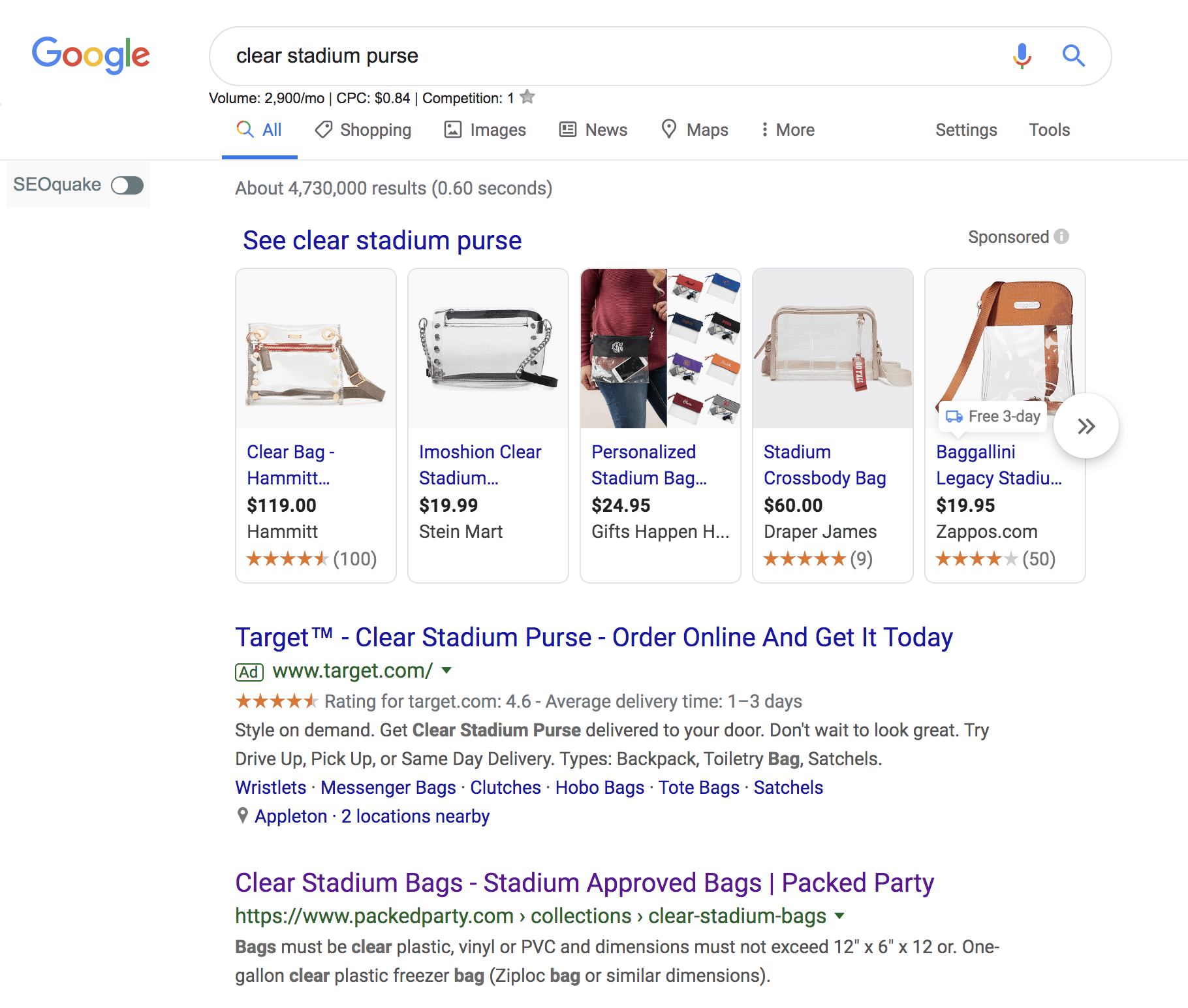 packed party seo case study